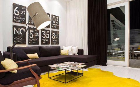 现代简约风格单身公寓复式楼装修设计效果图
