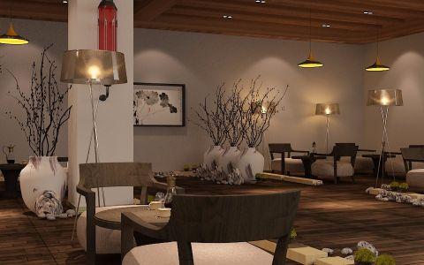 工装中式餐厅装修效果图欣赏