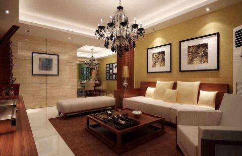 2018现代中式120平米装修效果图片 2018现代中式三居室装修设计图片