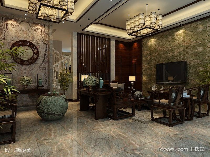 2019中式古典240平米装修图片 2019中式古典别墅装饰设计