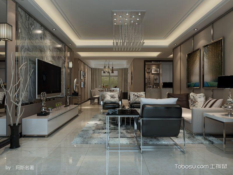 时尚东方现代简约三居室装修效果图