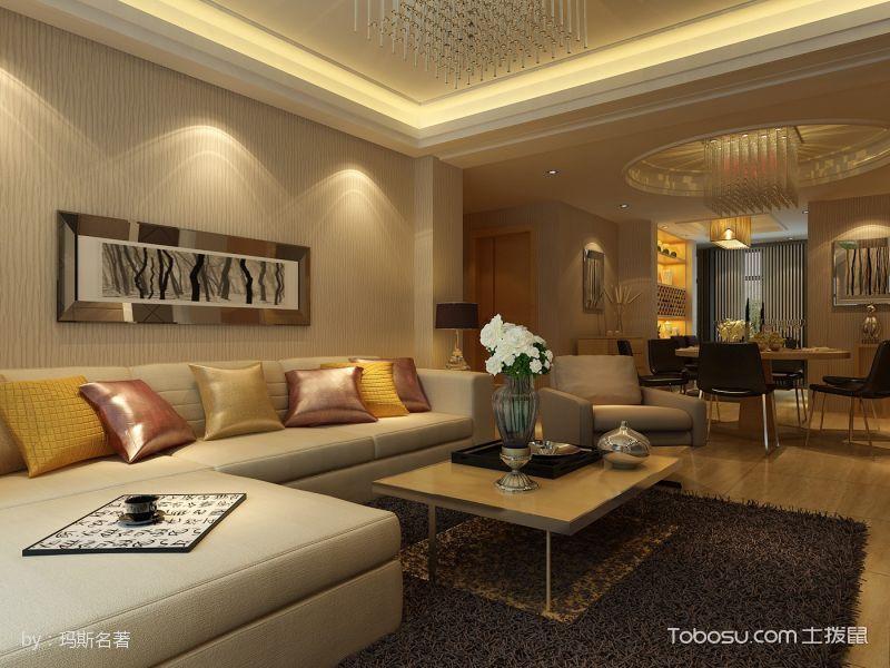 现代简约风格三居室装修案例图