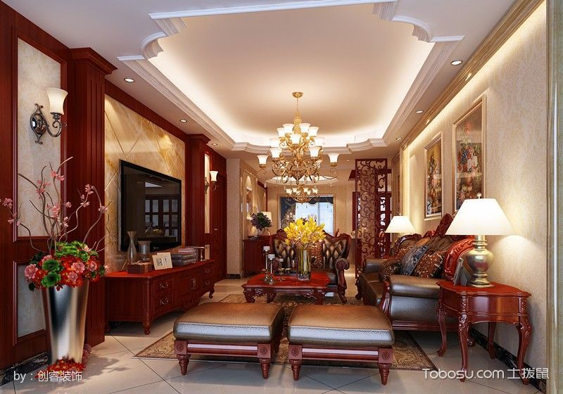 欧式豪华质感家装案例图