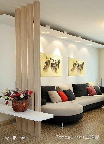 客厅黄色隔断简单风格装饰图片