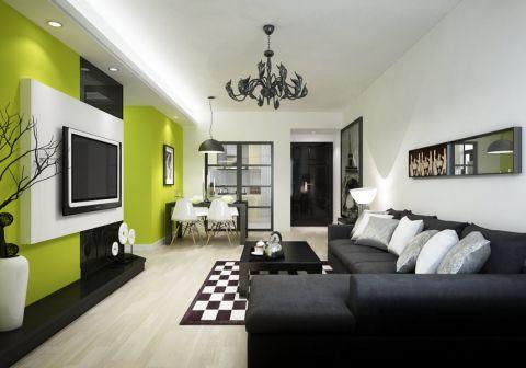 清新时尚风现代简约三居室设计赏析图
