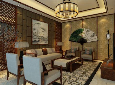 中式風獨棟別墅裝修案例圖