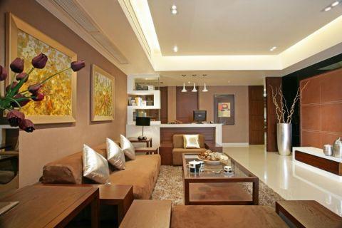 现代简中时尚三居室装修效果图