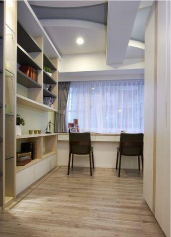 书房背景墙混搭风格装饰设计图片