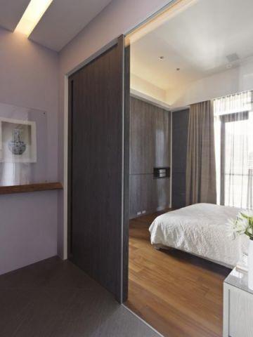 卧室推拉门现代简约风格装修效果图