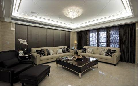 客厅窗帘新古典风格装潢设计图片