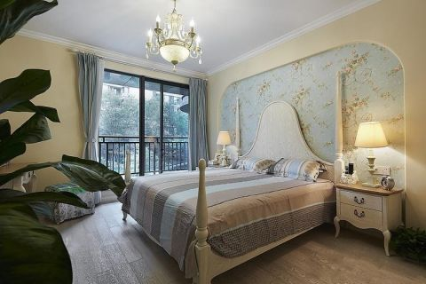 卧室田园风格装饰效果图