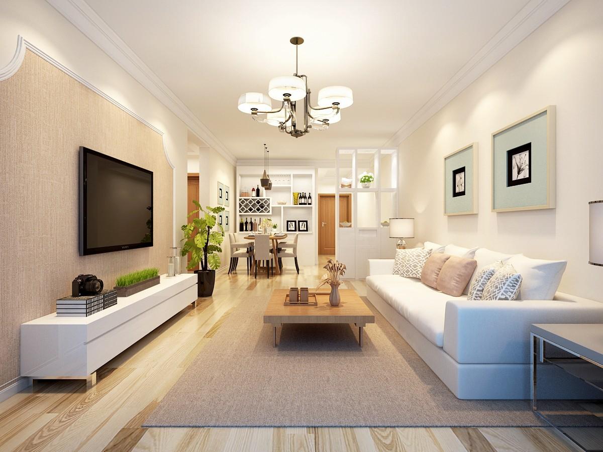 2室1卫1厅91平米简约风格