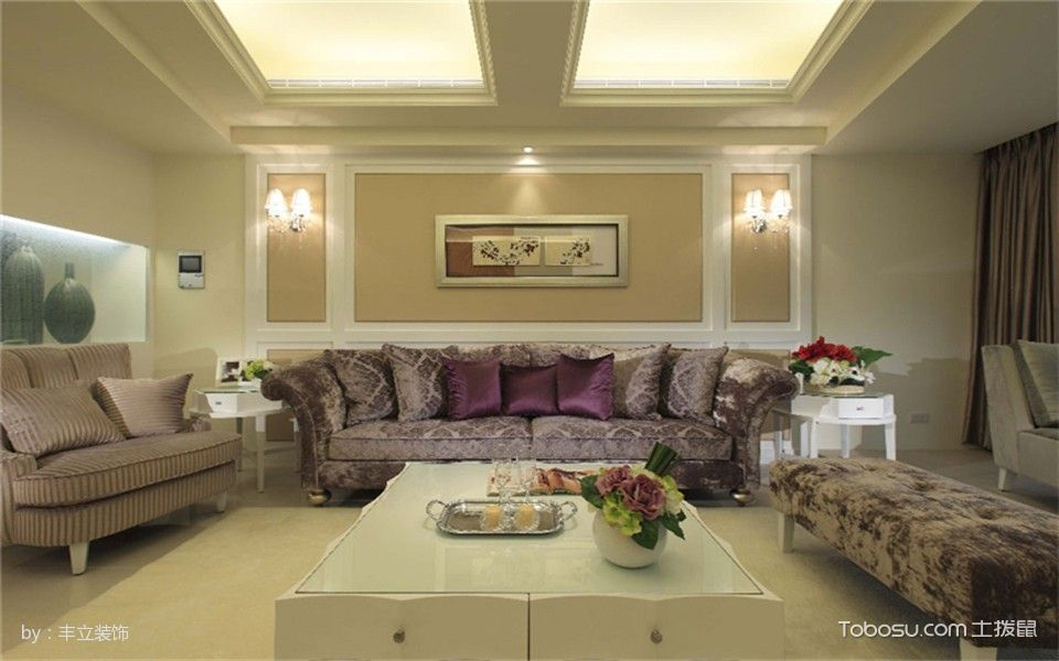 泛悦国际古典风格三居室案例图