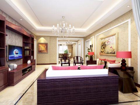 客厅现代中式风格装饰设计图片
