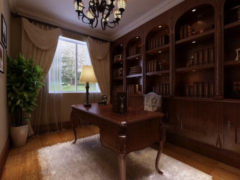 书房美式风格装潢效果图