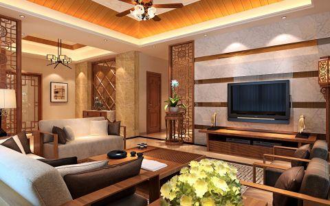 东南亚混搭风格套房装修效果图