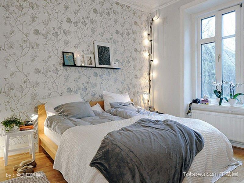 卧室黄色床北欧风格装饰设计图片