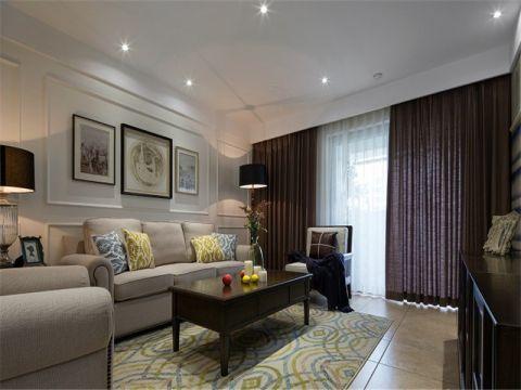 斜信春山台现代美式二居室装修效果图