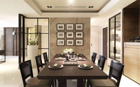 现代中式简单风格四居室装修效果图