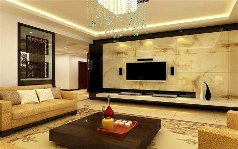 现代简中式三居室设计效果图