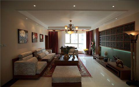 2021现代中式150平米效果图 2021现代中式四居室装修图