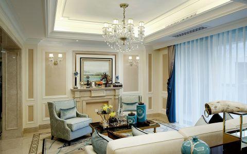 现代法式风格精致四居室装修案例图