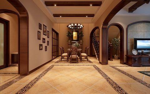 经典美式风三居室别墅装修图