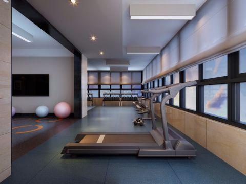 万达200平米健身房工业风装修效果图