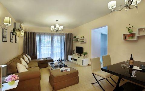 万达文旅城现代简约风格二居室装修图片