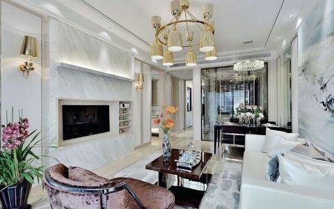 两居室户型混搭古典风格装修图