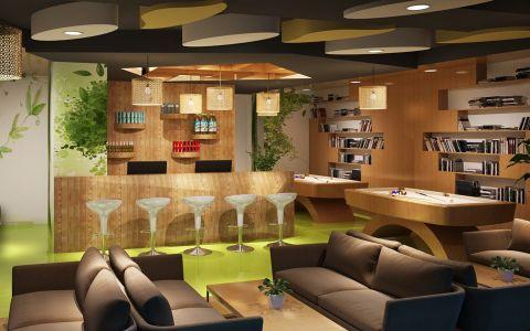 后现代科技办公空间装修效果图