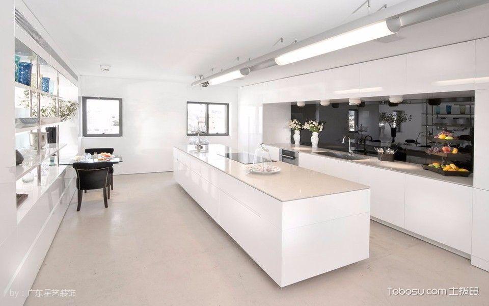厨房白色吊顶现代风格装修效果图