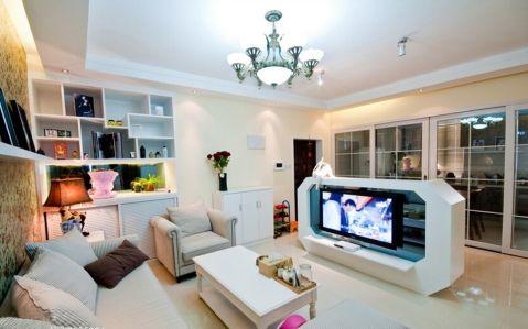 万达文旅城简约风格二居室装修图片