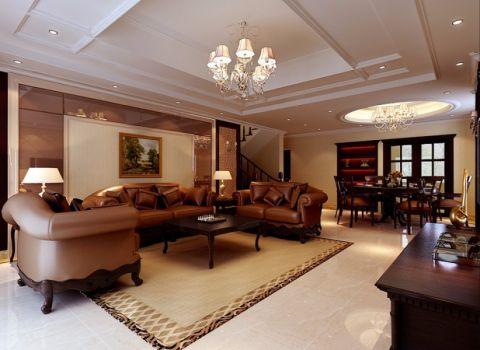 新天地家园现代美式三居室装修图