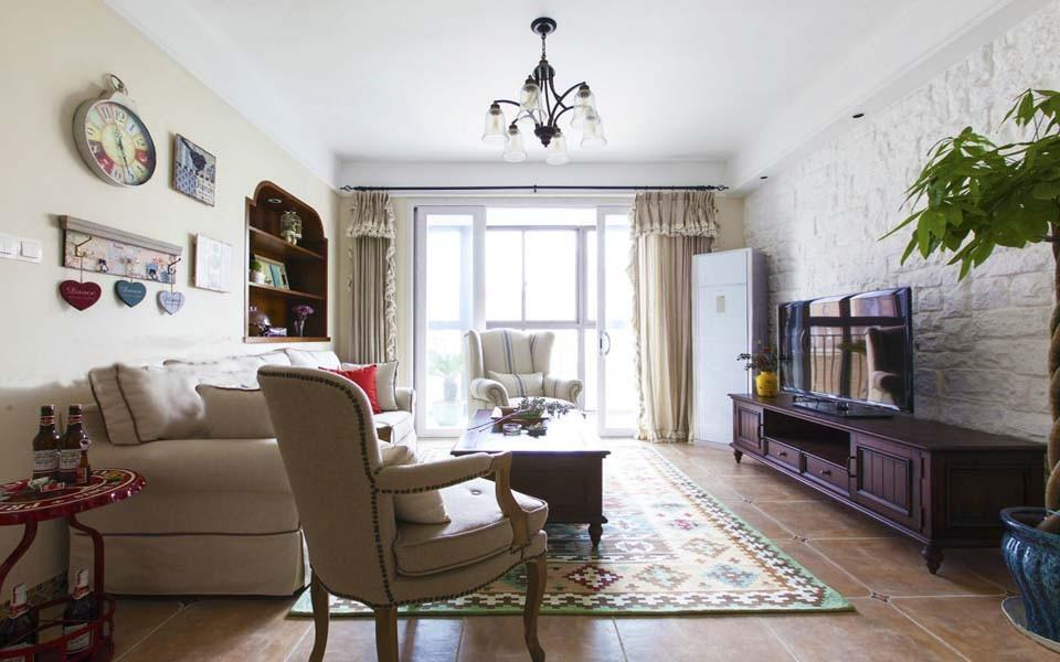 2室1卫1厅120平米美式风格