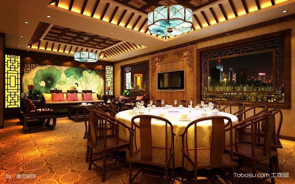 中式风格茶楼包间装潢设计图片