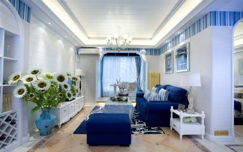 地中海风格三居室装修图