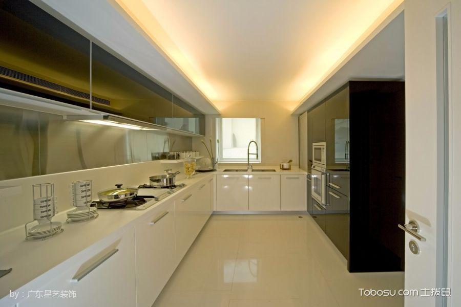 厨房米色吊顶现代简约风格装修图片