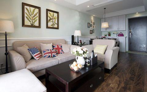 美式风格三室两厅户型装修图