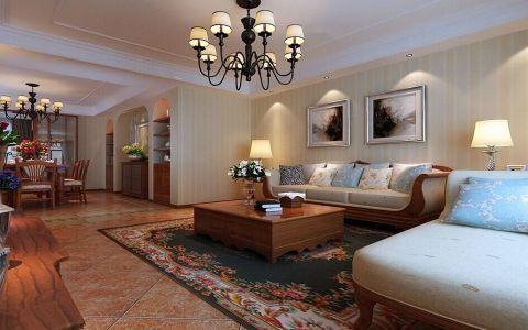 三居室美式混搭舒适装修图