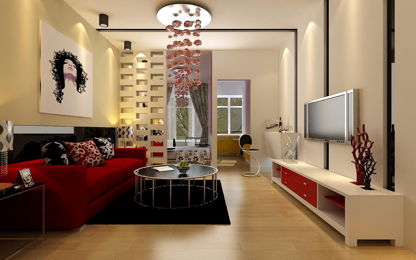 3室1卫2厅100平米现代风格