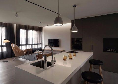 简约风格平层三居室装修效果图