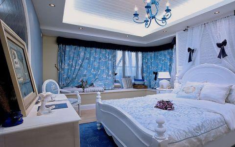 卧室窗台美式风格装饰图片
