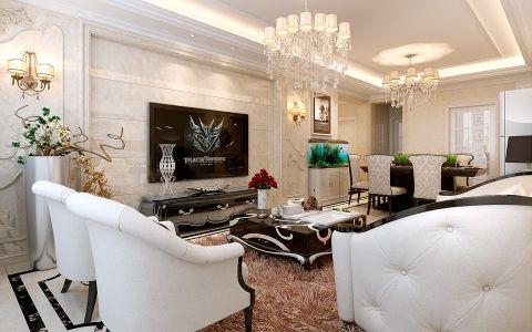 橡树湾三室两厅户型简约欧式风格装修效果