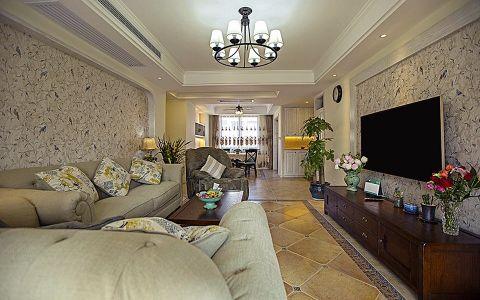 首信皇冠假日现代美式风格三居室效果图