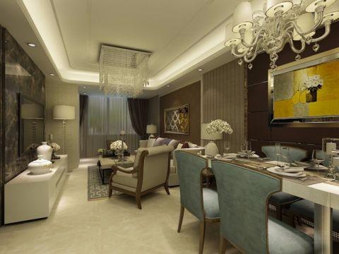 现代混搭风格两居室户型装修