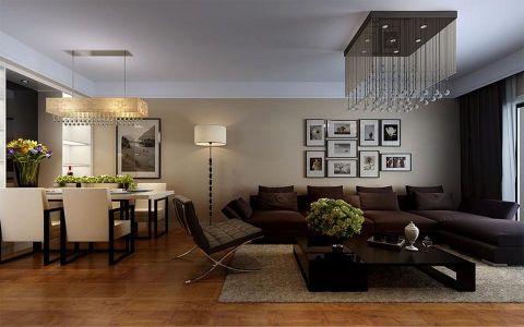 现代简约三居室家装设计图