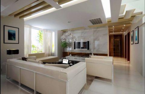 2020现代简约客厅装修设计 2020现代简约吊顶图片