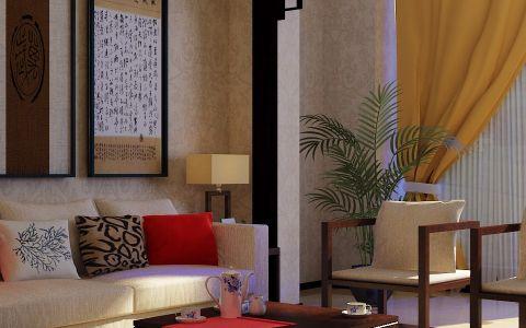 新中式风格套房装修效果图