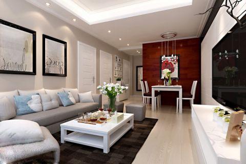 三居室婚房现代繁复装修图